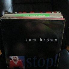 Discos de vinilo: SAM BROWN ?– STOP!. Lote 213880983