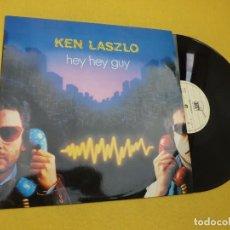 """Discos de vinilo: MAXI SINGLE 12"""" KEN LASZLO – HEY HEY GUY - PORTUGAL PRESS - 1984 (EX++/EX++) Ç. Lote 213894086"""