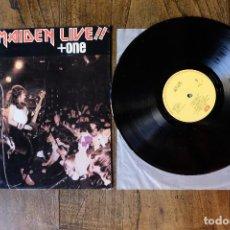 Discos de vinilo: IRON MAIDEN LIVE + ONE MAXI SINGLE EDICION GRIEGA. Lote 213900971