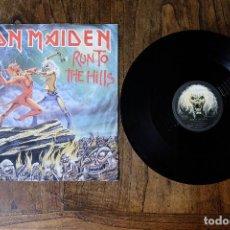 Discos de vinilo: IRON MAIDEN RUN TO THE HILLS MAXI SINGLE. Lote 213904261
