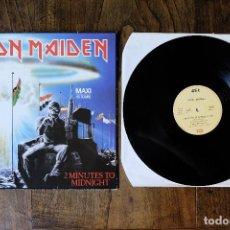 Discos de vinilo: IRON MAIDEN 2 MINUTES TO MIDNIGHT MAXI SINGLE EDICION FRANCESA. Lote 213905473