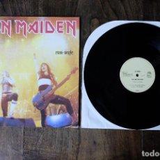 Discos de vinilo: IRON MAIDEN RUNNING FREE LIVE MAXI SINGLE. Lote 213906883
