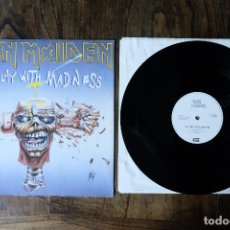 Discos de vinilo: IRON MAIDEN CAN I PLAY WITH MADNESS MAXI SINGLE LABEL BLANCO. Lote 213908940