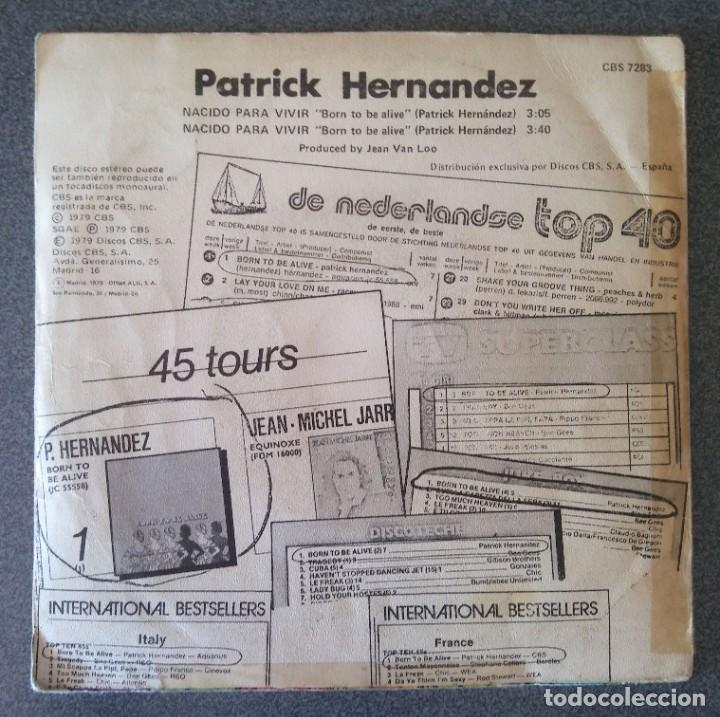 Discos de vinilo: Vinilo Ep Patrick Hernandez Born To Be Alive - Foto 3 - 213912207