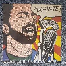 Discos de vinilo: JUAN LUIS GUERRA - FOGARATÉ. EDITADO POR ARIOLA. AÑO 1.994. VIENE CON UN LIBRITO CON LETRAS E INFORM. Lote 213917547