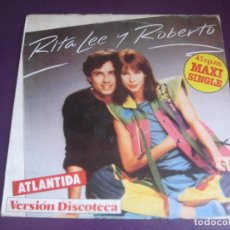 Discos de vinilo: RITA LEE & ROBERTO – ATLANTIDA MAXI SINGLE EMI 1982 - BRASIL FUNK DISCO LATIN - VINILO POCO USO. Lote 213938818