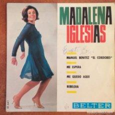 Discos de vinilo: MADALENA IGLESIAS - MANUEL BENITEZ EL CORDOBES 166 (EP). Lote 213940206