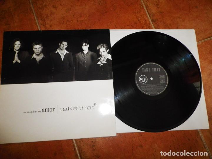 TAKE THAT NO SI AQUI NO HAY AMOR CANTADO EN ESPAÑOL MAXI SINGLE VINILO DEL AÑO 1994 ESPAÑA 5 TEMAS (Música - Discos de Vinilo - Maxi Singles - Pop - Rock Internacional de los 90 a la actualidad)