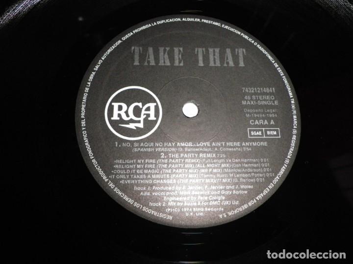 Discos de vinilo: TAKE THAT No si aqui no hay amor CANTADO EN ESPAÑOL MAXI SINGLE VINILO DEL AÑO 1994 ESPAÑA 5 TEMAS - Foto 2 - 213952836