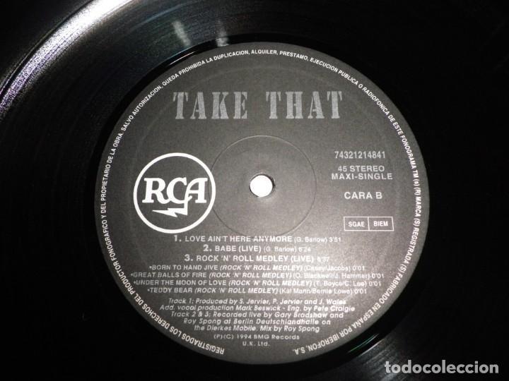 Discos de vinilo: TAKE THAT No si aqui no hay amor CANTADO EN ESPAÑOL MAXI SINGLE VINILO DEL AÑO 1994 ESPAÑA 5 TEMAS - Foto 4 - 213952836