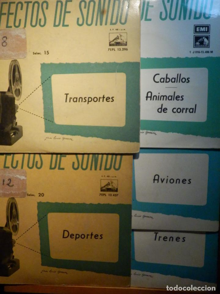 5 SINGLES - EMI - EFECTOS DE SONIDO - ANIMALES, AVIONES, TRENES, DEPORTES, TRANSPORTES (Música - Discos - Singles Vinilo - Otros estilos)