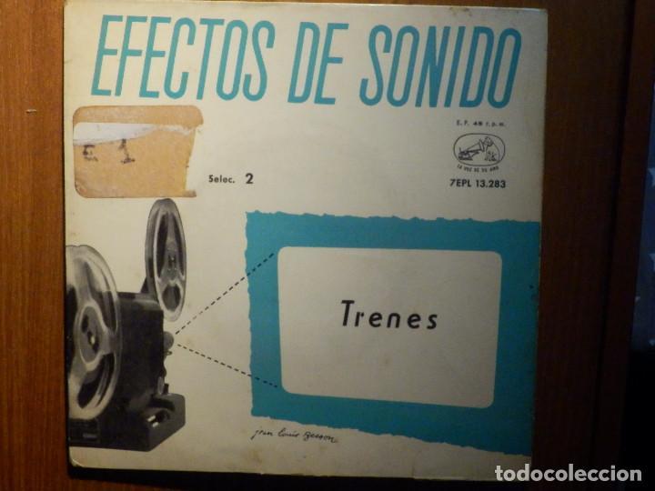 Discos de vinilo: 5 SINGLES - EMI - EFECTOS DE SONIDO - ANIMALES, AVIONES, TRENES, DEPORTES, TRANSPORTES - Foto 2 - 213961311