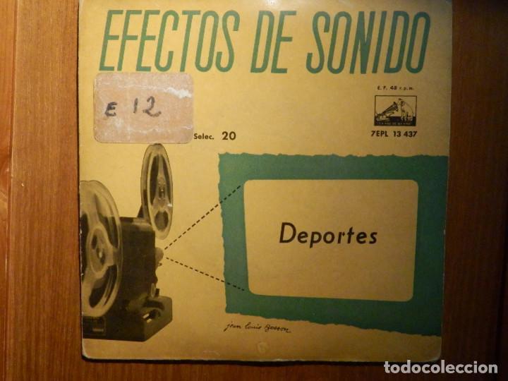 Discos de vinilo: 5 SINGLES - EMI - EFECTOS DE SONIDO - ANIMALES, AVIONES, TRENES, DEPORTES, TRANSPORTES - Foto 4 - 213961311