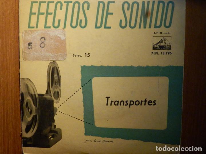 Discos de vinilo: 5 SINGLES - EMI - EFECTOS DE SONIDO - ANIMALES, AVIONES, TRENES, DEPORTES, TRANSPORTES - Foto 5 - 213961311