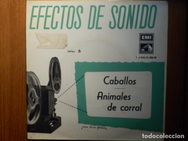 Discos de vinilo: 5 SINGLES - EMI - EFECTOS DE SONIDO - ANIMALES, AVIONES, TRENES, DEPORTES, TRANSPORTES - Foto 6 - 213961311