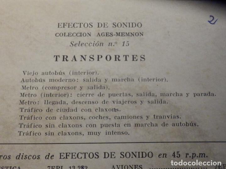 Discos de vinilo: 5 SINGLES - EMI - EFECTOS DE SONIDO - ANIMALES, AVIONES, TRENES, DEPORTES, TRANSPORTES - Foto 8 - 213961311