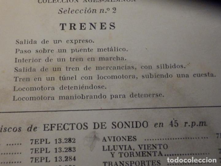 Discos de vinilo: 5 SINGLES - EMI - EFECTOS DE SONIDO - ANIMALES, AVIONES, TRENES, DEPORTES, TRANSPORTES - Foto 9 - 213961311