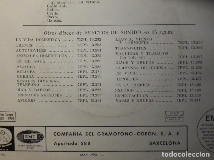 Discos de vinilo: 5 SINGLES - EMI - EFECTOS DE SONIDO - ANIMALES, AVIONES, TRENES, DEPORTES, TRANSPORTES - Foto 12 - 213961311
