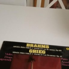 Discos de vinilo: BAL-6 DISCO GRANDE 12 PULGADAS BRAHMS GRIEG VIOLIN Y PIANO DENES ZSIGMONDY ANNELIESE NISSER. Lote 213963380