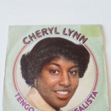 Disques de vinyle: CHERYL LYNN TENGO QUE SER REALISTA GOT TO BE REAL / COME IN FROM THE RAIN ( 1979 CBS ESPAÑA ). Lote 213979516