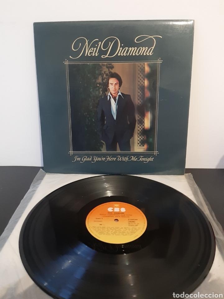 NEIL DIAMOND. ESTOY CONTENTO QUE ESTES CONMIGO ESTA NOCHE. CBS. 1977. SPAIN (Música - Discos - LP Vinilo - Pop - Rock - Internacional de los 70)