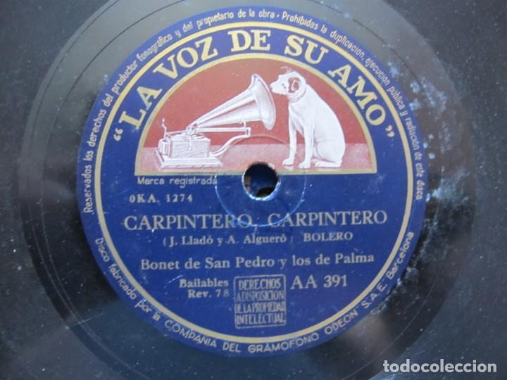 BONET DE SAN PEDRO Y LOS 7 DE PALMA / CARPINTERO, CARPINTERO / ¡ SHU ! ¡ SHU ! (LA VOZ DE SU AMO AA (Música - Discos de Vinilo - EPs - Solistas Españoles de los 50 y 60)