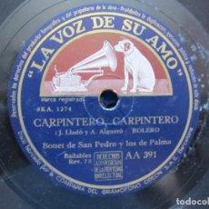 Discos de vinilo: BONET DE SAN PEDRO Y LOS 7 DE PALMA / CARPINTERO, CARPINTERO / ¡ SHU ! ¡ SHU ! (LA VOZ DE SU AMO AA. Lote 213998991