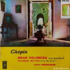 Discos de vinilo: CHOPIN. GRAN POLONESA. ALAIN BERNHEIM. EP ESPAÑA. Lote 214007040