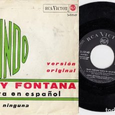 Dischi in vinile: JIMMY FONTANA - EL MUNDO - SINGLE DE VINILO EDICION ESPAÑOLA CANTADO EN ESPAÑOL #. Lote 214007401