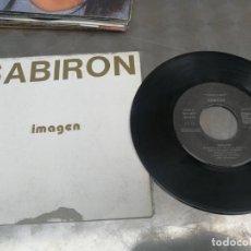 Discos de vinilo: SABIRON - IMAGEN + MOTO ESPACIAL (AUTOPRODUCCIÓN, 1983) TECNO SYNTH POP NUEVA OLA EUSKADI - MUY RARO. Lote 214016125