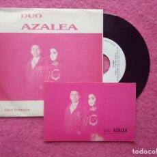 Discos de vinilo: SINGLE DUO AZALEA - TU PELO / NOCHE CALIDA - S-144 - PROMO (EX-/VG++). Lote 214019046