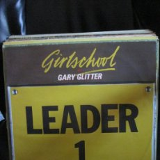 Discos de vinilo: GIRLSCHOOL + GARY GLITTER – I'M THE LEADER OF THE GANG (I AM). Lote 214024501