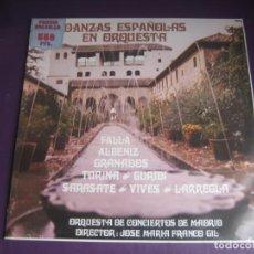 Discos de vinilo: JOSE MARIA FRANCO GIL - DANZAS ESPAÑOLAS EN ORQUESTA LP HISPAVOX - SARASATE - FALLA - TURINA - ESPLÁ. Lote 214029646