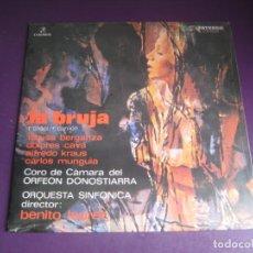 Discos de vinilo: LA BRUJA - ORFEON DONOSTIARRA - TERESA BERGANZA - KRAUS - CAVA LP COLUMBIA - OPERETA - OPERA. Lote 214029792