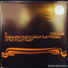 Discos de vinilo: LP STEREOLAB COBRA AND PHASES GROUP PLAY VOLTAGE IN THE MILKY NIGHT 2LP VINILO TRANSPARENTE NUEVO. Lote 214030691