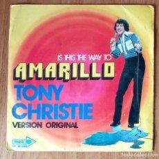 Discos de vinilo: IS THIS THE WAY TO AMARILLO (TONY CHRISTIE) - MCA 20.638 - 45 RPM. Lote 214030781