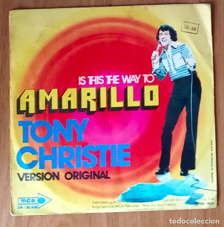 Discos de vinilo: IS THIS THE WAY TO AMARILLO (TONY CHRISTIE) - MCA 20.638 - 45 RPM - Foto 2 - 214030781
