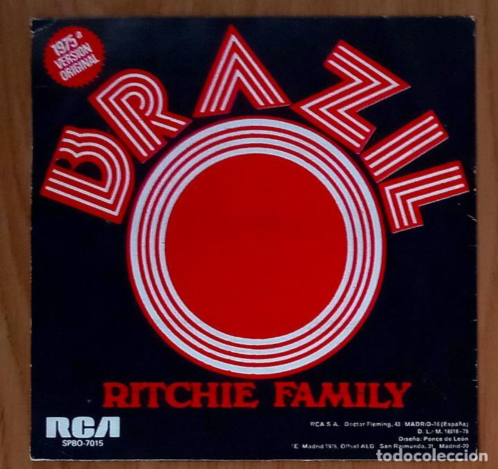 Discos de vinilo: BRAZIL (RITCHIE FAMILY) - 1975 RCA SPB0-7015 - 45 RPM - Foto 2 - 214031156