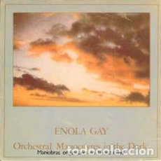 "Discos de vinilo: ORCHESTRAL MANOEUVRES IN THE DARK - ENOLA GAY = MANIOBRAS EN EL ESPACIO (7"", SINGLE) LABEL:DINDISC. Lote 214031377"