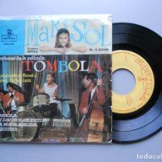 """Discos de vinilo: MARISOL ?– CANCIONES DE LA PELÍCULA """"TÓMBOLA"""" EP 1962 VG+/VG++. Lote 214034657"""