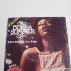 Dischi in vinile: DONNA SUMMER LOVE TO LOVE YOU BABY ( 1976 ARIOLA ESPAÑA ) GIORGIO MORODER. Lote 214036491