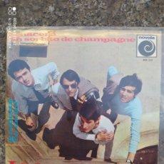 Discos de vinilo: LOS BRINCOS. RENACERA / UN SORBITO DE CHAMPAGNE. EP VINILO BUEN ESTADO.. Lote 214041508
