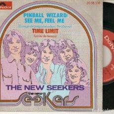 "Discos de vinilo: THE NEW SEEKERS 7"" SPAIN 45 PINBALL WIZARD SEE ME FEEL ME 1973 SINGLE VINILO POP ROCK BUEN ESTADO !!. Lote 214041562"