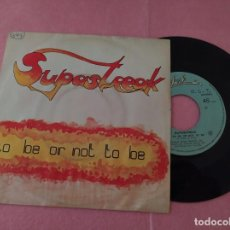 "Discos de vinilo: 7"" SUPASTREAK ‎– TO BE OR NOT TO BE - LOVE GAMES - PORTUGAL PRESS - SINGLE - RISS 8093 - (VG++/VG+). Lote 214094711"