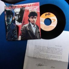 Discos de vinilo: EL ULTIMO DE LA FILA MANOLO GARCIA QUIMI PORTET SINGLE CON HOJA PROMOCIONAL ORIGINAL EPOCA. Lote 214099023
