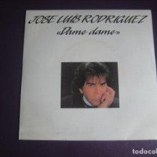 Discos de vinilo: JOSE LUIS RODRIGUEZ, EL PUMA SG MERCURY 1987 - DAME DAME +1 MELODICA POP LATINA VENEZUELA. Lote 214099940