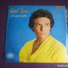 Disques de vinyle: JOSE JOSE SG ARIOLA 1983 - EL AMOR ACABA +1 - MEXICO BALADA POP - VINILO SIN USO - MANUEL ALEJANDRO. Lote 214100172