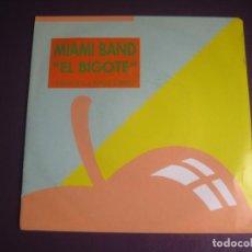 Discos de vinil: MIAMI BAND SG MANZANA 1992 PROMO - EL BIGOTE - LATIN HIP HOP ELECTRO. Lote 214101355
