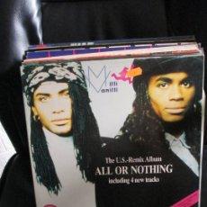 Discos de vinilo: MILLI VANILLI – ALL OR NOTHING - THE U.S. REMIX ALBUM. Lote 214102558