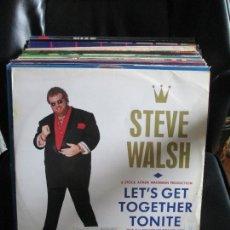 Discos de vinilo: STEVE WALSH (2) ?– LET'S GET TOGETHER TONITE (THE ALL TOGETHER TONITE MIX). Lote 214106447
